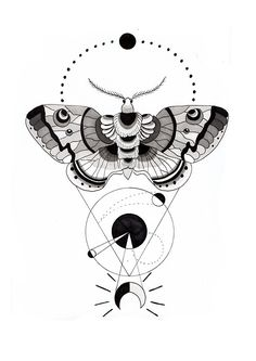 geometric anchor tattoo | Double Deaths Head Moth Tattoo On Left Foot
