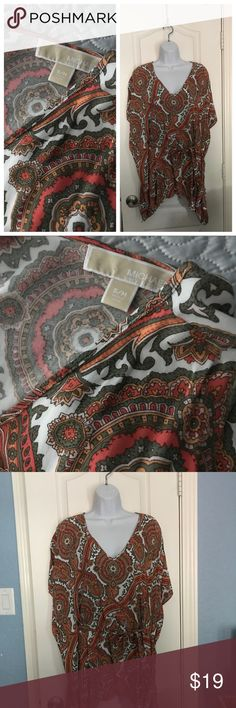 Michael Kors Tunic Orange Michael Kors paisley tunic top with belt MICHAEL Michael Kors Tops Tunics