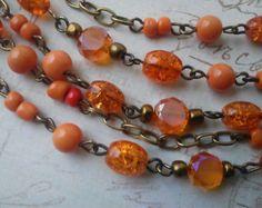 orange mixed beads - Google Search
