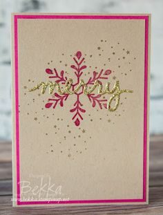 Stampin' Up! UK Feeling Crafty - Bekka Prideaux Stampin' Up! UK Independent Demonstrator: Holly Jolly Greetings Make In A Moment Monday Merr...