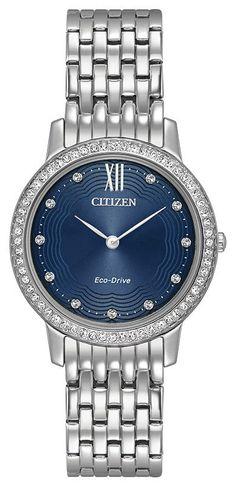 Brand New Citizen  ECO-DRIVE SILHOUETTE CRYSTAL EX1480-58L #CitizenEcoDrive #DressFormal