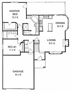 Traditional House Plan 62514 Level One
