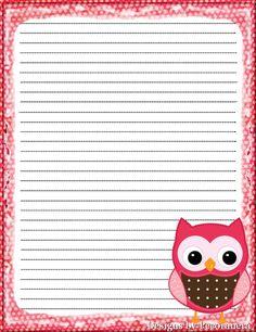 cute owl note paper