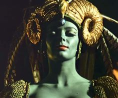 "Barbara Steele was painted green in ""The Crimson Cult""  1968"
