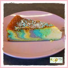 glutenfreier Regenbogen-Kuchen - Einhorn-Torte