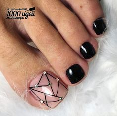 27 Adorable Easy Toe Nail Designs 2020 – Simple Toenail Art Designs : Page 22 of 25 : Creative Vision Design – nageldesign. Simple Toe Nails, Pretty Toe Nails, Cute Toe Nails, Summer Toe Nails, Spring Nails, Summer Pedicures, Black Toe Nails, Stiletto Nails, Toenail Art Designs