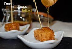 Cocinando en Mislares: DADOS de QUESO EMPANADO con MIEL