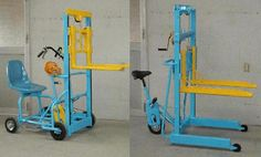 This one is kinda interesting...isnt it???Human Powered Forklift. #usedforklifts #materialhandling