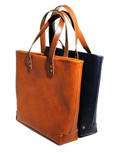 Hammer & Hyde Leather Totes in Cognac & Black