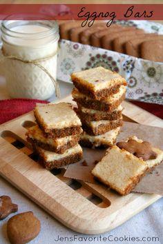 Eggnog Cream Cheese Bars from Jens Favorite Cookies