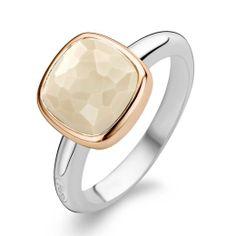 Stunning Ti Sento Sterling Silver, Rose Gold & CZ Ring #tisento #rosegold #nude #jewellery #shadesoftime