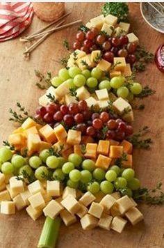 Christmas Tree Cheese Board Appetizer idea
