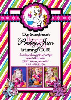 My Little Pony Invitations Etsy