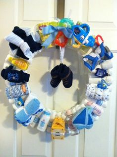 Baby Boy Diaper Wreath…About Time I See A Cute Baby Boy Shower Gift…Click On Picture For Directions…  | followpics.co