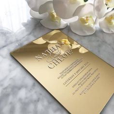 Feeling a little fancy Then this maziicollection invitation could be the one for you The gold mirror acrylic element surely gives a modern yet glamorous feel don t you think Share your thoughts below Photo via weddingdream Acrylic Wedding Invitations, Unique Wedding Invitations, Wedding Invitation Wording, Wedding Stationery, Event Invitations, Invites, Wedding Card Design, Wedding Cards, Wedding Events