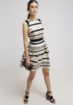 Little Mistress Sukienka koktajlowa - off-white/black - Zalando.pl