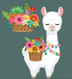 Alpacas, Cactus Stickers, Cute Stickers, Llama Drawing, Arte Latina, Pineapple Wallpaper, Cute Llama, Llama Alpaca, Alice