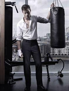 Grey (Jamie Dornan) yes please Jamie Dornan, 50 Shades Trilogy, Fifty Shades Movie, Christian Grey, Luke Grimes, Cute White Boys, Johnson Family, Mr Grey, Fifty Shades Of Grey