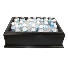 "Medium Black Wooden Beverage Display / Housing - 20"" x 12"" x 6"""