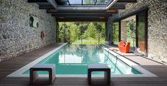 diseño para piscinas interiores cubiertas