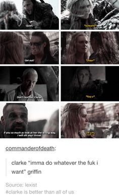 Ahahahahahahaha Lexa The 100, The 100 Clexa, The 100 Cast, The 100 Show, The 100 Quotes, 100 Memes, Im Going Crazy, Clarke And Lexa, Movies And Tv Shows