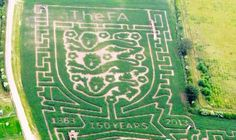 ENGLAND hope their path to silverware will be easier than the Maize Maze. Soccer Art, Football Art, Maze, Anniversary, Artist, Beautiful, Labyrinths, Artists