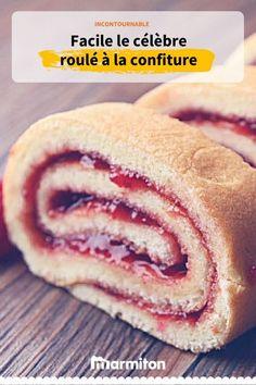 Le roulé à la confiture, le biscuit incontournable pour les bûches #recette #marmiton #recettemarmiton #cuisine