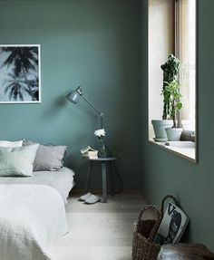 A Stockholm house created by design god @lottaagaton - this project is completely dedicated to the colour green... We have posted images of this home before & never tire of this clever way of using colour en masse. Our friends at @duluxaus recommend using their colour P32B4 SHORE WATER to recreate this look in your space | Steph. by Jonas Ingerstedt. #designer #style #inspiration #inspire #green #colour #home #decor #decorate #greenery #scandi #Stolkholm #beauty #linen #sleepin #space #...