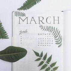 Lauren (@laurensnotebook) •March Bullet Journal Pages