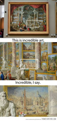 Funny pictures about An Art Show Inside Of A Painting. Oh, and cool pics about An Art Show Inside Of A Painting. Also, An Art Show Inside Of A Painting photos. Art Amour, Wow Art, Art Design, Art Plastique, Art History, History Memes, Modern History, Painting & Drawing, Art Drawings