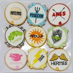 Greek mythology themed cookies.