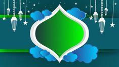 Eid Mubarak Background, Ramadan Background, Hajj Mubarak, Moving Clouds, Green Windows, Hanging Lanterns, Simple Backgrounds, Stock Footage, Islamic