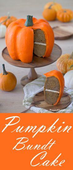 This soft and moist pumpkin bundt cake just might be the ultimate edible holiday centerpiece! | Pumkin cake, Pumpkin recipes, Pumpkin desserts, Thanksgiving Centerpieces