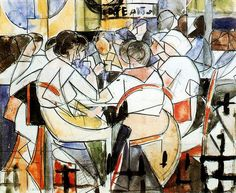 Barradas, Rafael (1890-1929) - 1917-18 People in a Cafe - Study (National Museum of Visual Arts, Montevideo, Uruguay) by RasMarley, via Flickr