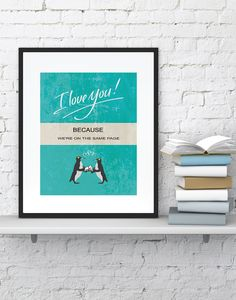 Personalized LOVE poster Inspirational LOVE by BlackPelican