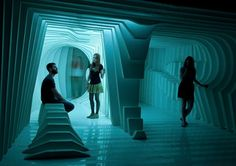 Light Installation Cornea Ti by architecture students from School of Design Mainz with Ensemble Modern Frankfurt/Luminale 2014