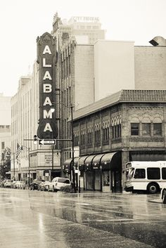 Downtown Birmingham Landmarks - The Alabama Theater-  A free high resolution picture download for you to print and enjoy!