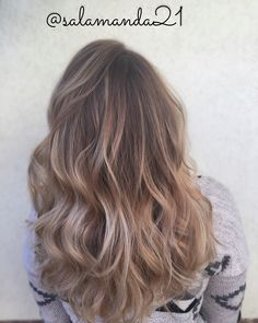 Perfect sun kissed balayage hair