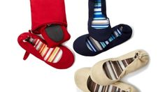CitySlips Foldable Canvas Flats by // I need to invest in a pair of these!