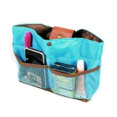 Ultimate Purse Insert Organizer & Day Clutch - Sky Blue Wrapables. $14.99