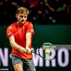 ABN Amro WTT David GOFFIN during the ABN AMRO World Tennis Tournament at the Ahoy Rotterdam on February 2019 in Rotterdam Netherlands Get premium, high resolution news photos at Getty Images Tennis Tournaments, Tennis Players, David Goffin, Rotterdam Netherlands, Tennis News, February 12, Tennis Racket, World, The World