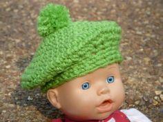 Free Crochet Pattern: Parisian Doll Beret