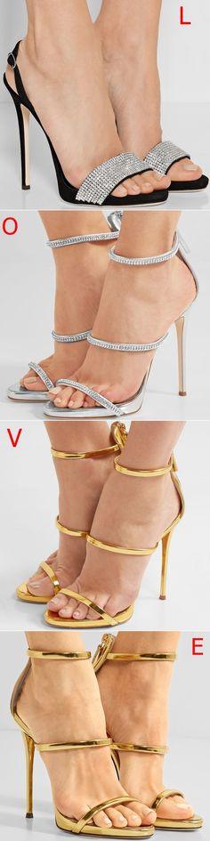 L, O, V, E? How do you like these shoes from Giuseppe Zanotti?