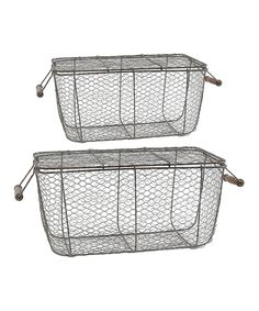 Look what I found on #zulily! Metal Wire Picnic Basket Set by Established 98 #zulilyfinds