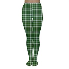 St. Patricks day plaid pattern Women s Tights