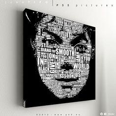 Michael Jackson - Typography - acryl & vinyl artwork -