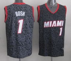 df71c66f6 Heat  1 Chris Bosh Black Crazy Light Stitched NBA Jersey Cheap Nba Jerseys