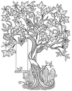 Coloring Book App, Tree Coloring Page, Coloring Apps, Doodle Coloring, Flower Coloring Pages, Animal Coloring Pages, Coloring Pages To Print, Mandala Coloring, Tattoo Coloring Book