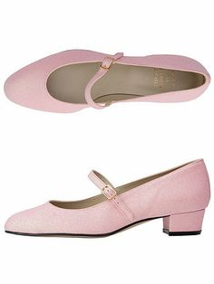 The Mary Jane Pump Glitter Shoe in Light Pink Glitter by #AmericanApparel