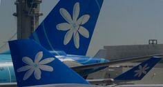 Air Tahiti Nui encounter at LAX winglet and tail Air Tahiti, Tahiti Nui, Fly Air, Airline Logo, The Incredibles, French Polynesia, Bora Bora, Pacific Ocean, Airplanes